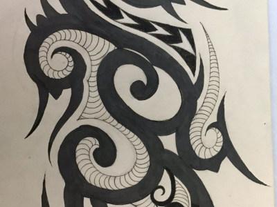连江异域纹身手稿图案大全