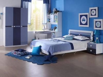 萧山蓝色儿童房装修