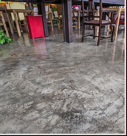 潍坊某咖啡店的地面施工