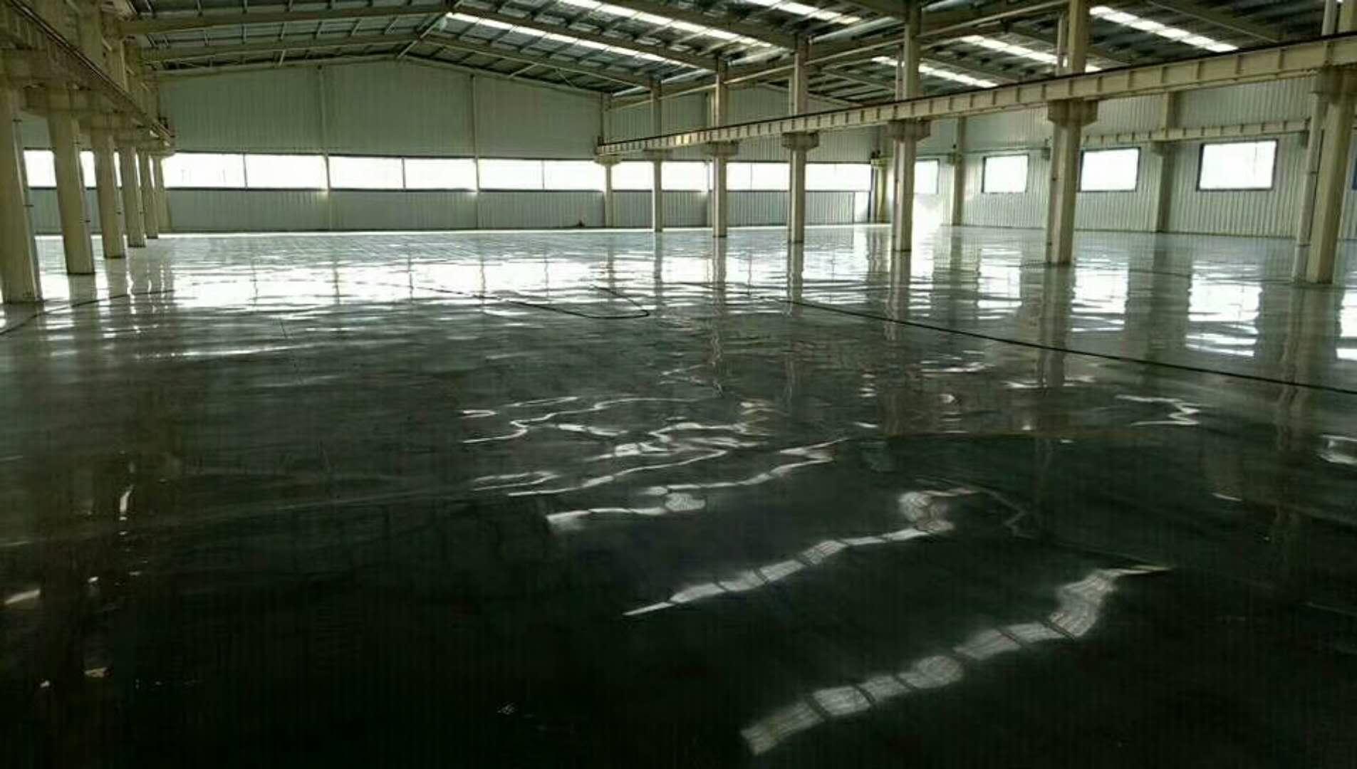 山东康尔环保地面固化抛光后效果