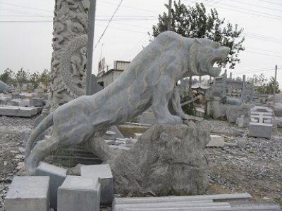 石雕动物-石雕老虎