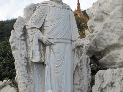 石雕人物-赵云石雕像