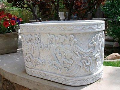 石雕花盆案例