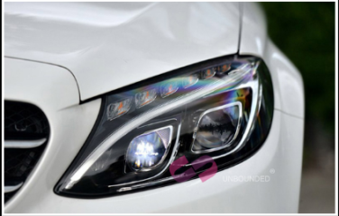 奔驰C级原厂智能LED大灯