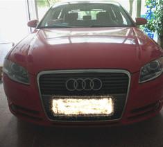 奥迪A4红色Q5透镜改车灯 海拉五透镜 欧司朗氙气灯远光