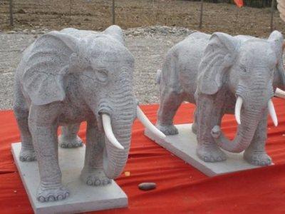石雕动物_石雕大象雕刻制作