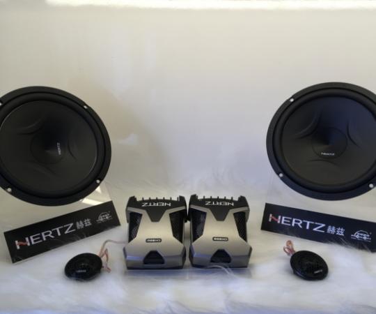 HERTZ赫兹汽车音响喇叭6.5寸套装改装高音头中低音带分频器FCK165