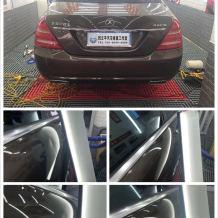 奔驰S500左右铝合金后门凹陷修复