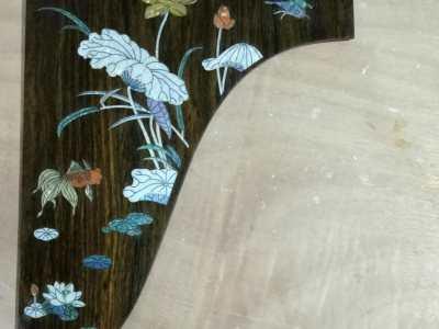古筝钢琴面板拼花
