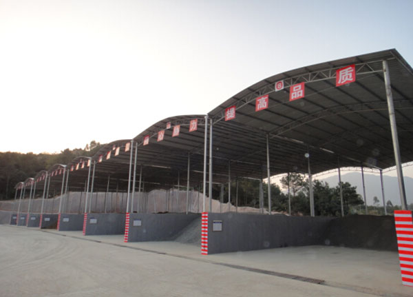 杭州高速高铁砂石料棚搭建