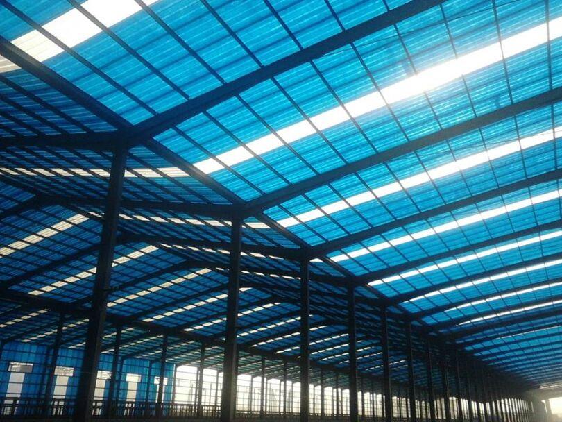 6000平方米工程选择江西得鑫新型建材透光瓦