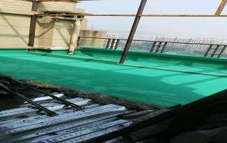 屋顶防水施工涂膜