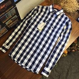 18春季新款,男装格子长袖衬衫,上身版型超赞!即修身!又好看!
