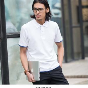 1AC05双色领T恤