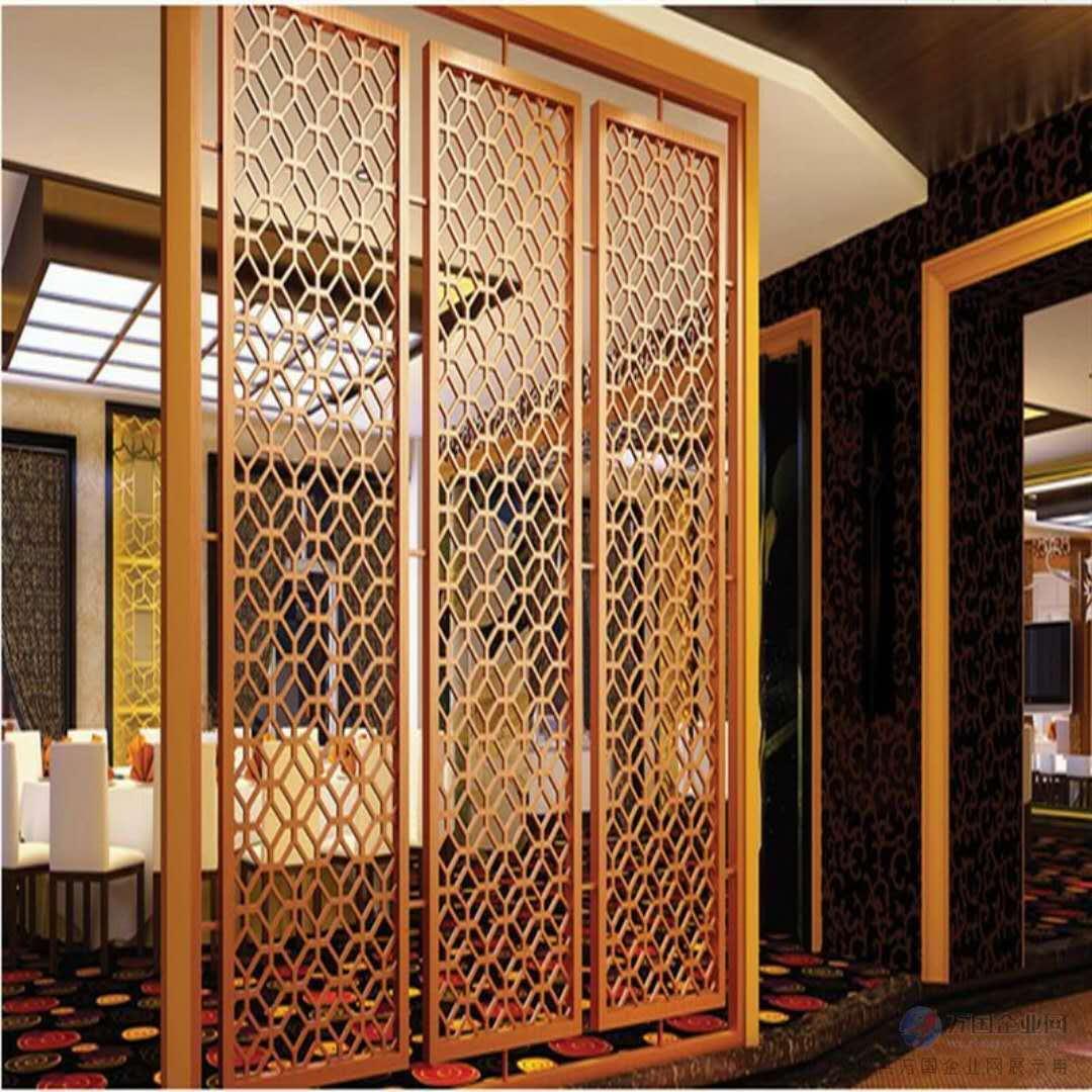 不锈钢屏风案例展示-佛山专业不锈钢屏风隔断酒柜门套生产厂家