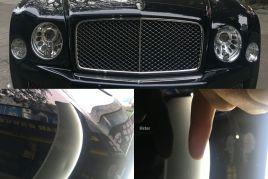 Bentley Mulsanne宾利慕尚车身凹痕修复