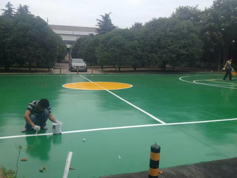 篮球场环氧地坪施工案例