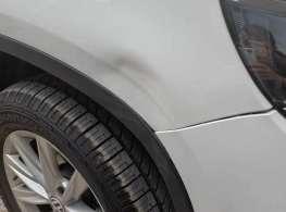车身凹陷修复前