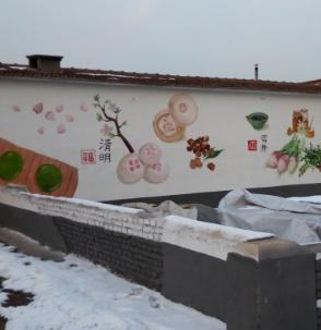 北京牆體彩繪提醒你冬季外牆能不能彩繪!