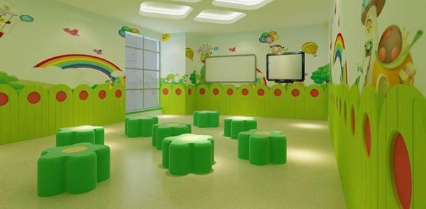 卡通暖色幼儿园pvc地板