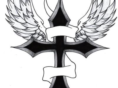十字架纹身手稿素材