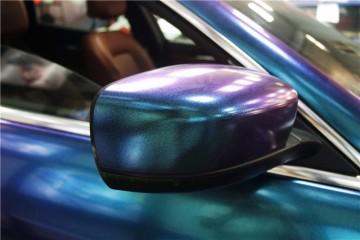 玛莎拉蒂钻石紫魅蓝改色案例