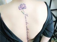 赣州纹身花朵图案作品
