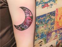 赣州纹身月亮图案作品