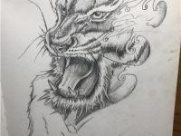 赣州纹身动物图案手绘图