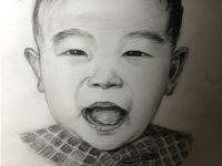 赣州纹身小孩图案手绘图