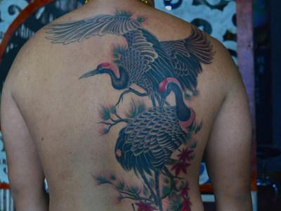 连江纹身鹤纹身