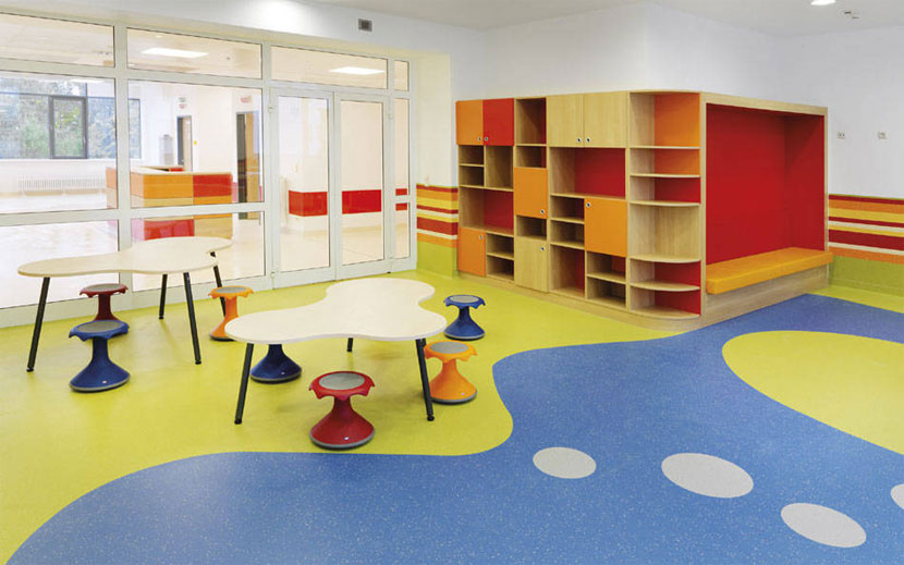 幼儿园玩具室PVC地板