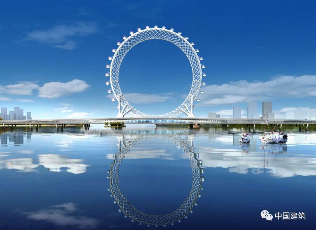由2899根钢管编织而成,世界最大无轴式摩天轮是如何诞生的?