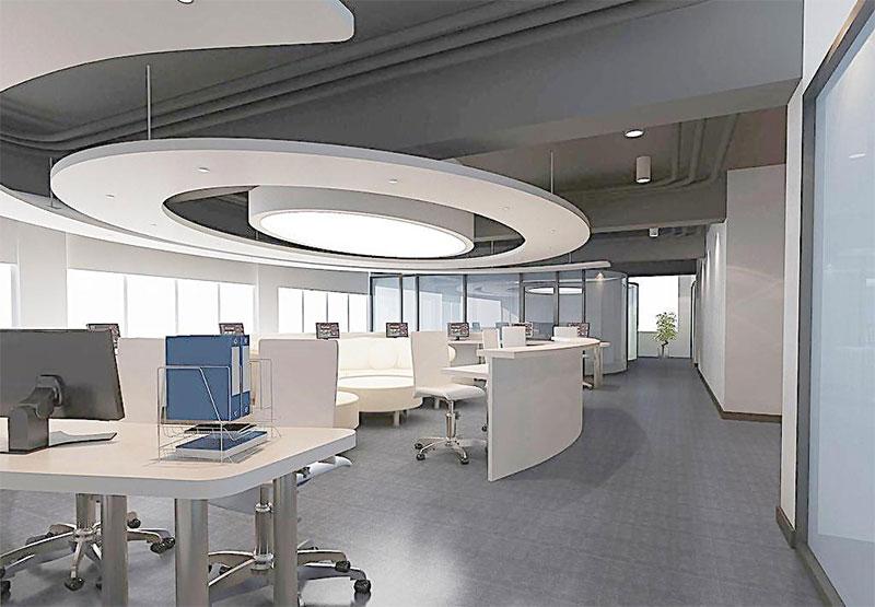 办公区PVC地板效果图