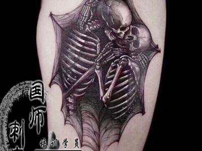 郑州刺青骷髅纹身