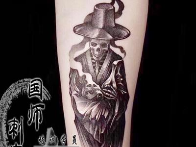 郑州纹身骷髅刺青