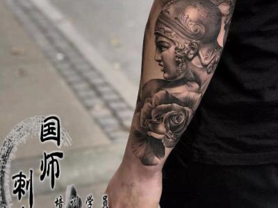 郑州刺青手臂人像纹身