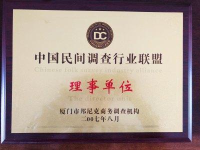 中国民间调查行业联盟理事单位