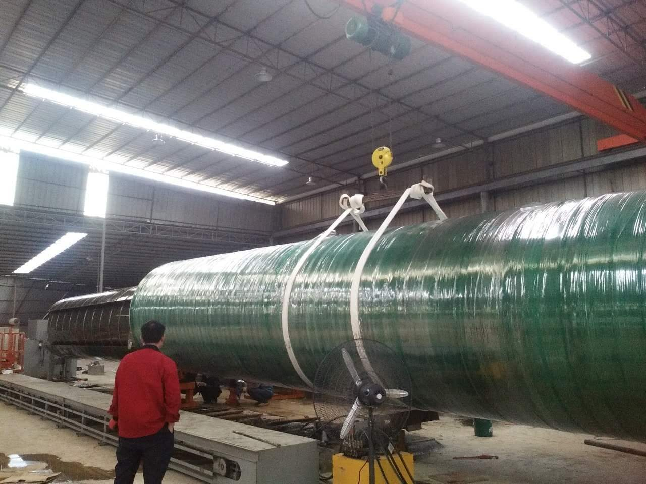 玻璃钢管道生产车间