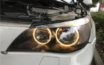 宝马5系车灯升级镀膜增亮版GTR双光透镜+大灯翻新