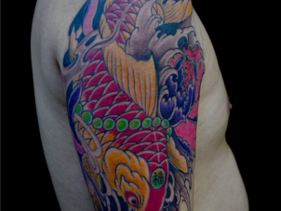 连江纹身鲤鱼刺青
