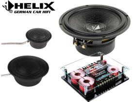 德国HELIX喜力士汽车音响改装C62C套装喇叭6.5寸两路两三分频扬声器中音低音高音单元全国包施工 C63三分频套装喇叭