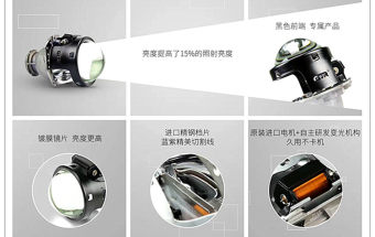 本田十代雅阁原车近光LED远光卤素升级双光透镜实现四近两远提升亮度三倍