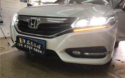 思铂睿原车LED车灯不亮,远光卤素升级GTR双光透镜氙气大灯+专用套件日行灯+流光转向