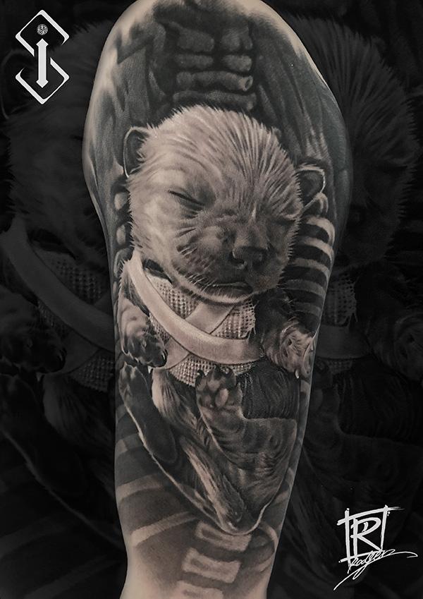 狗纹身-可爱动物3D纹身-小狗纹身图案欣赏