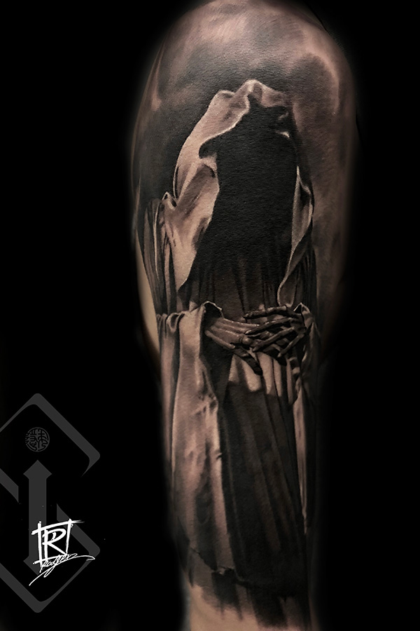 幽灵纹身-西方神话人物纹身图案