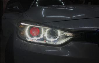 宝马三系大灯升级GTR增亮版双光透镜+雾灯双光透镜氙气大灯