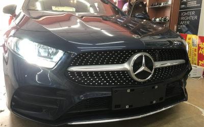 奔驰A180原车卤素大灯升级双光透镜氙气大灯提升亮度提升档次