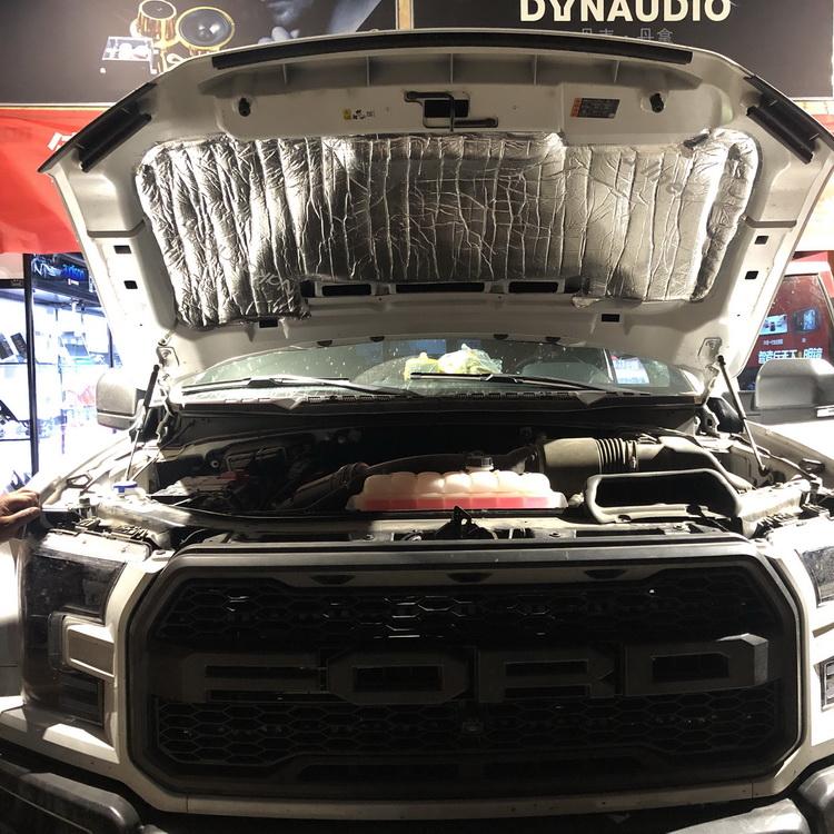 2、使用日本中道引擎专用膜对引擎盖做隔热处理
