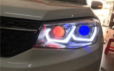 长安CS75升级四远,近光位氙气双光透镜,远光位LED双光透镜,四近四远